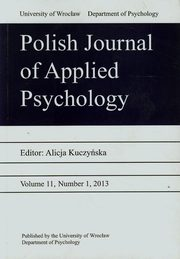 Polish Journal of Applied Psychology 11 2013,