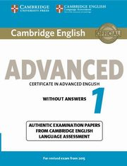 Cambridge English Advanced 1 for Revised Exam from 2015 Student's Book without Answers,