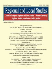 Regional and Local Studies, special issue 2010,